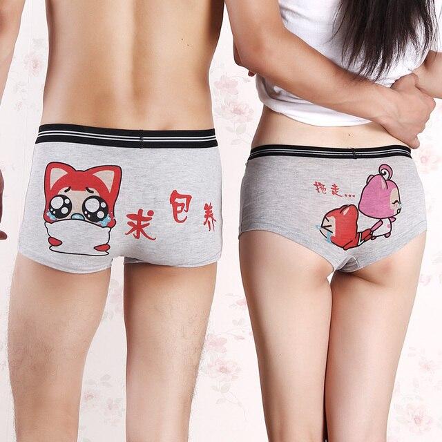 Korean cartoon underwear low modal cute sexy underwear for male and female boxer couples seeking nurturing