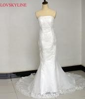 2015 Spring Fashion Fish Tail Wedding Dress Plus Size Slim Women Short Trailing