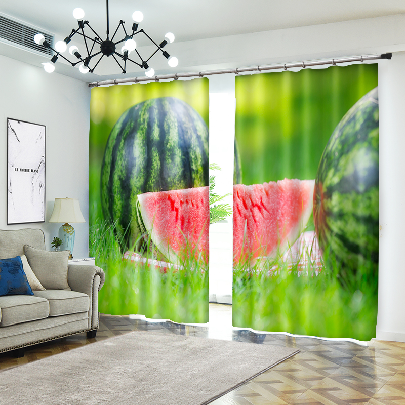 Some Different Fruit Printing 3D Curtains For Living Room Window Treatments Modern Curtains For Beding Room High-precision Shade