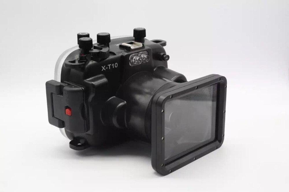 Diving Fotocamera Subacquea impermeabile Custodia per Fotocamera Fujifilm Fuji X-T10 XT10 16-50mm lens