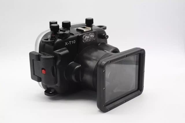 Водонепроницаемый Подводный корпус камеры чехол для Fujifilm Fuji x-t10 xt10 16-50 мм объектив