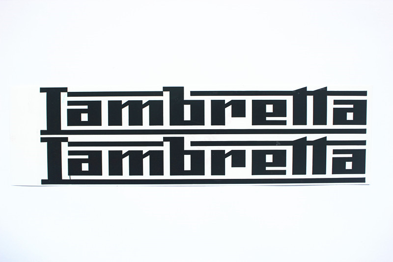 Motorcycle Emblem Badge Decal Tank Wheel Logo chromed brass Sticker For Lambretta Sticker gold silver black red color