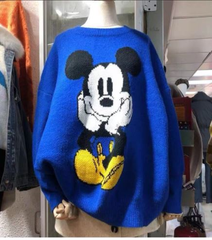 Harajuku Original Women Sweater Thick Cartoon Mouse Jacquard High Quality Winter Sweaters Female Casual Pullover Knitted