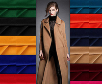 2017 Europe High End Brand Wool Coat Fabric Merino Wool Cashmere Fabrics Smooth Glossy Anti Static