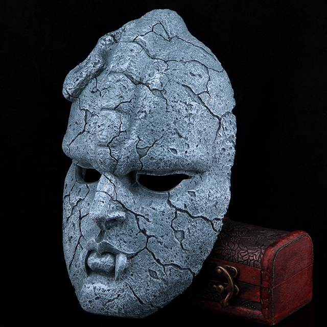 Horror bizarre adventure Decorative stone mask stone ghost mask cosplay MEDICOS