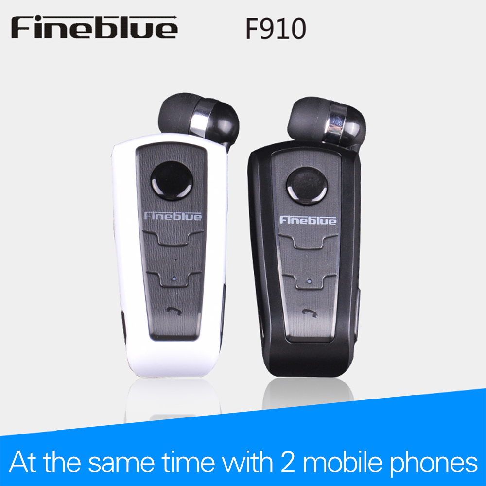 Wireless Bluetooth Earphone FineBlue F910 Calls Remind Vibration Headset With Collar Clip For bluetooth Phone Handfree Call wireless bluetooth earphone fineblue f sx2 calls remind vibration headset with car charger for iphone samsung handfree call
