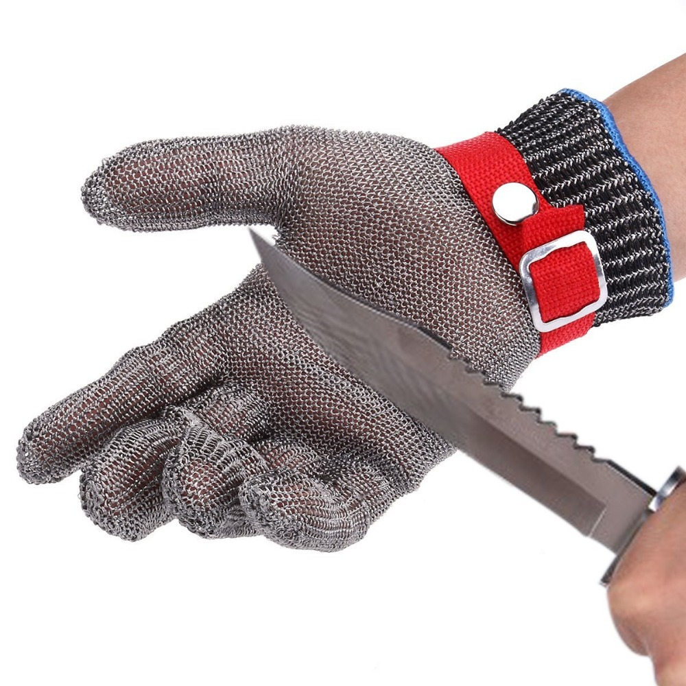Safety Cut Proof Stab <font><b>Resistant</b></font> Stainless Steel Wire Metal Mesh <font><b>Glove</b></font> High Performance Level 5 Protection