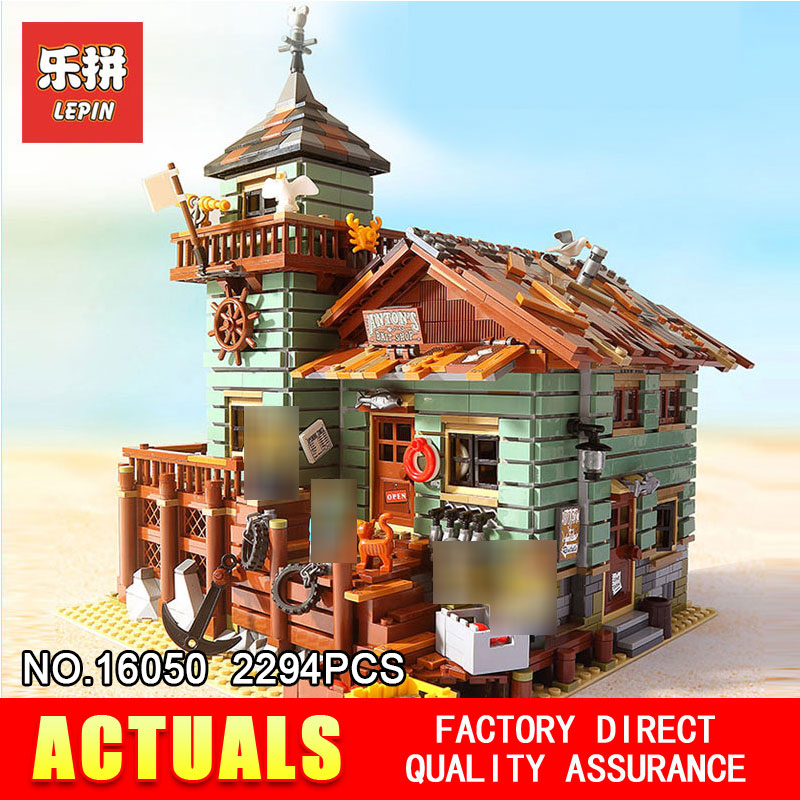 Лепин 2294 16050 шт. Творческий MOC серии старый отделка магазин набор Детские развивающие строительные блоки кирпичи игрушки модель 21310