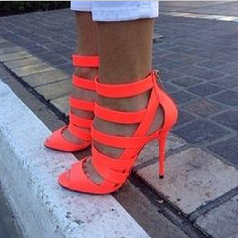 À Gratuite Taille 11 Hauts En Cuir Talons 45 Simple Livraison Mode Rouge Shofoo Femmes Sandales Orange Cm Sandales Chaussures 34 p8O1ca1BP