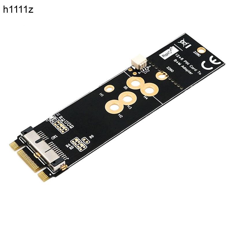 NEW BCM94360CD BCM94360CS2 BCM943224PCIEBT2 12+6 Pin Bluetooth WiFi Wireless Card Module To M.2 NGFF Key B+M Adapter For Mac OS