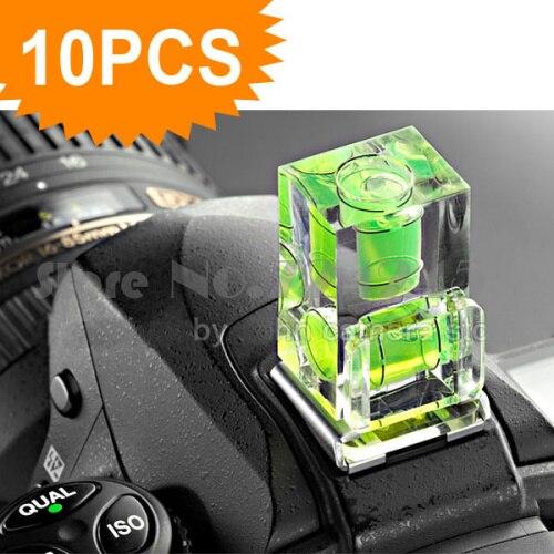 10 pçs/lote Sapata Dois Eixo Duplo Bolha Spirit Level Montagem Para Câmera Slr Dslr para Can & n nik & n