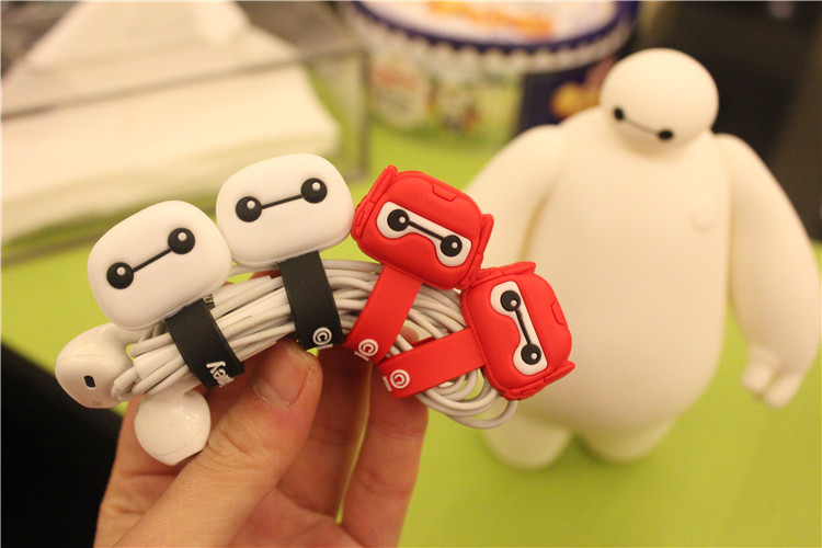 50pcs/lot Hot Sale Cartoon Hero Headphone Earphone Cable Wire Organizer Cord Holder USB Charger Cable Winder For iphone samsung