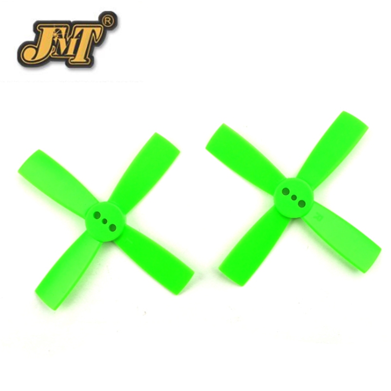 JMT 10 pairs 2035 2 inch Propeller 50mm CW CCW Paddle 1.5mm shaft hole Nylon 4-blade Props For DIY FPV Racing Drone Quadcopter f17778 4pcs lot 2 pairs fpv nylon fiber cw ccw propeller for yuneec typhoon q500