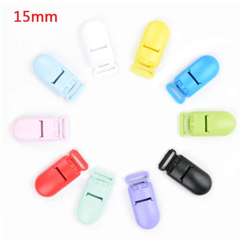 50 unids/lote chupete de plástico de 15mm para bebés fabricación de joyas chupete soporte para alimentación de bebés herramientas de varios colores