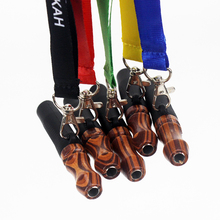 Reusable Hookah Mouthpiece with Hang Rope Strap Shisha Mouth Tips Silicon Wooden Chicha Narguile Water Pipe Mouthpieces cheap Aoikumo Silicone Lacquer Free Type SH178 Sheesha Smoking Cachimbas Available dropshipping