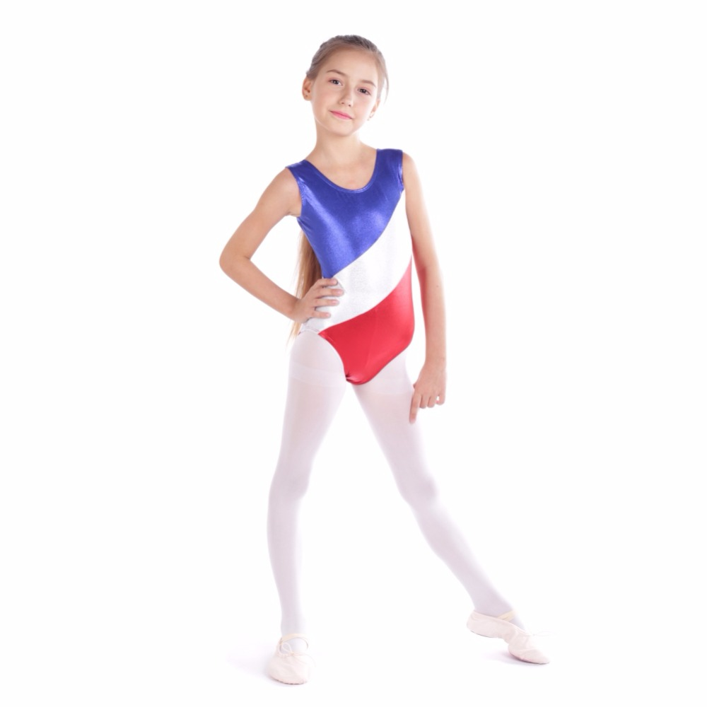 2bab86465 2019 Gymnastic Leotards Kids Ribbon Sleeveless Dance Leotards For ...
