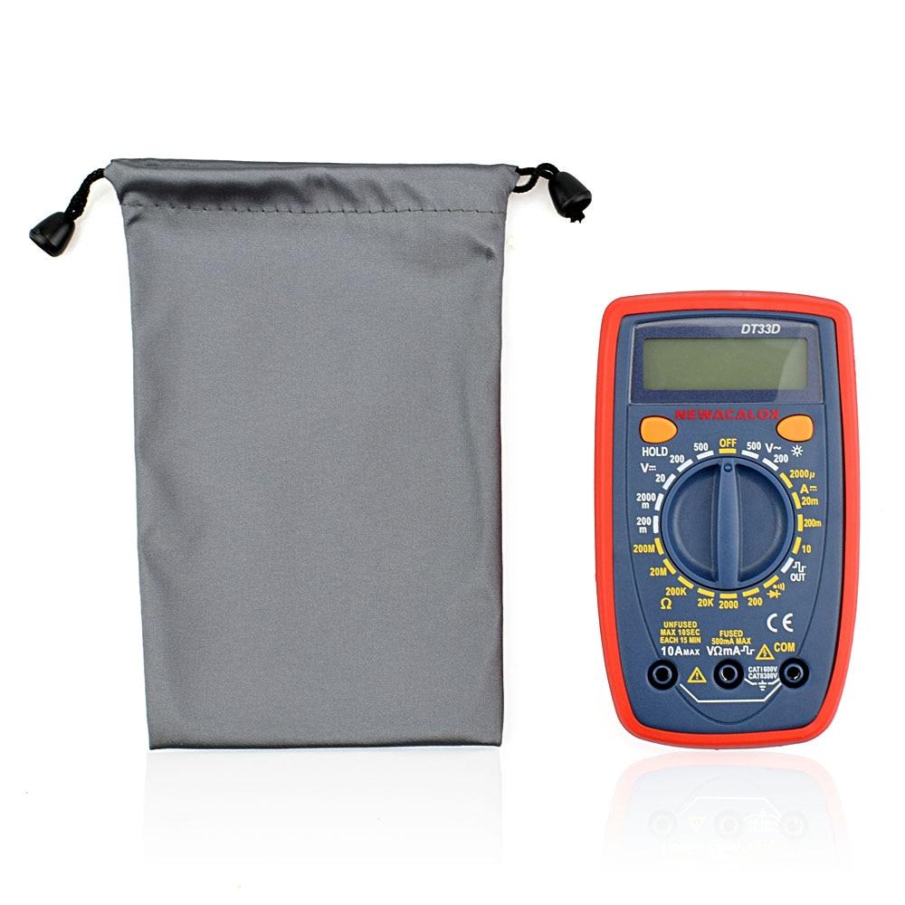 NEWACALOX DT33 LCD Multímetro digital Luz de fondo AC / DC - Instrumentos de medición - foto 4