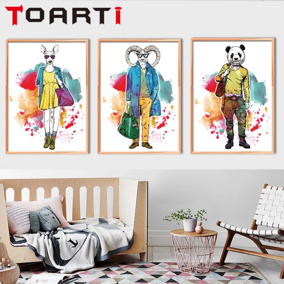 Buy watercolour animals fashion show for Show home decor