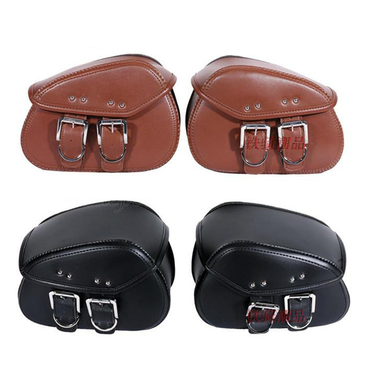 leather scooter tail bags motorbike tail bag moto side bags unviersal luggage for harley accessories mini motorcycle saddlebag