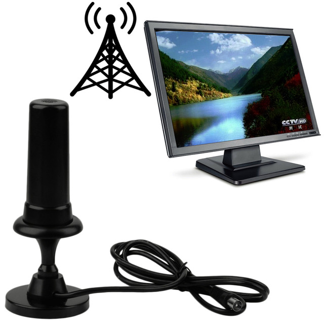 Nova Vista Livre Antena Digital de TV DVB-T 36 DB Por Auto TW36 com Cabo Atacado