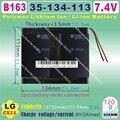 [B163] 7.4 V, 7500 mAH, [35134113] PLIB (bateria de iões de lítio polímero) Li-ion bateria para tablet pc, mp4, telefone celular, telefone celular speaker