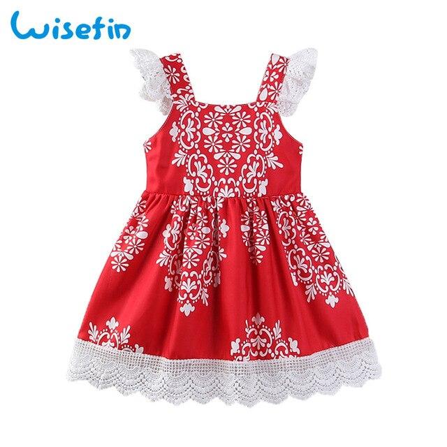 4e26a520e46c Wisefin Christmas Toddler Girl Dresses Vintage Floral Princess Dress Summer  Lace Kids Summer Dresses For Girls Vestido Menina