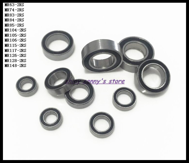 10pcs/Lot MR128-2RS MR128 RS 8x12x3.5mm The Rubber Sealing Cover Thin Wall Deep Groove Ball Bearing Miniature Bearing Brand New купить