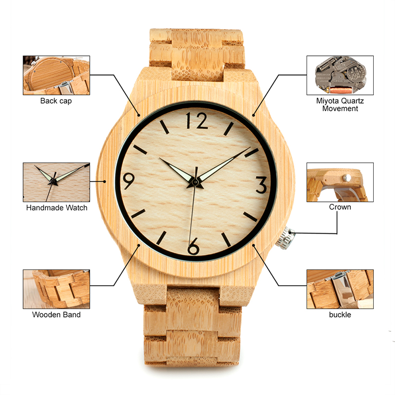 relogio masculino BOBO BIRD Wood Watch Men Top Brand Luxury Wooden Timepieces Great Men's Gift Drop Shipping W-D27 11