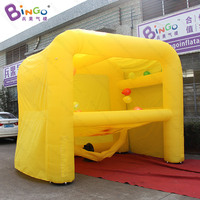 Customized 3x3.5x4.4 Meters Inflatable balloon shooting games for Kids and Adults yellow interesting games toys