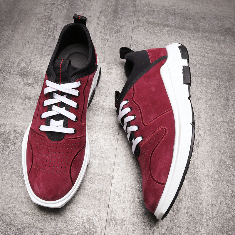 RELIKEY Brand Red Men Casual Shoes Genuine Leather Lace-up New Arrival High Quality Male Flats Leisure Breathable Shoes for Men 2016 new high quality genuine leather men business casual shoes men woven breathable hole gentleman shoes brand taima 40 45