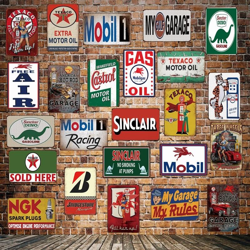 Metal Tin Sign speed shop custom spoken here Decor Bar Pub Home Vintage Retro