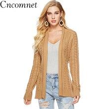 Women Knit Cardigan Belt Loose Thick Sweater Jacket 2018 Autumn Winter New Fashion Coat