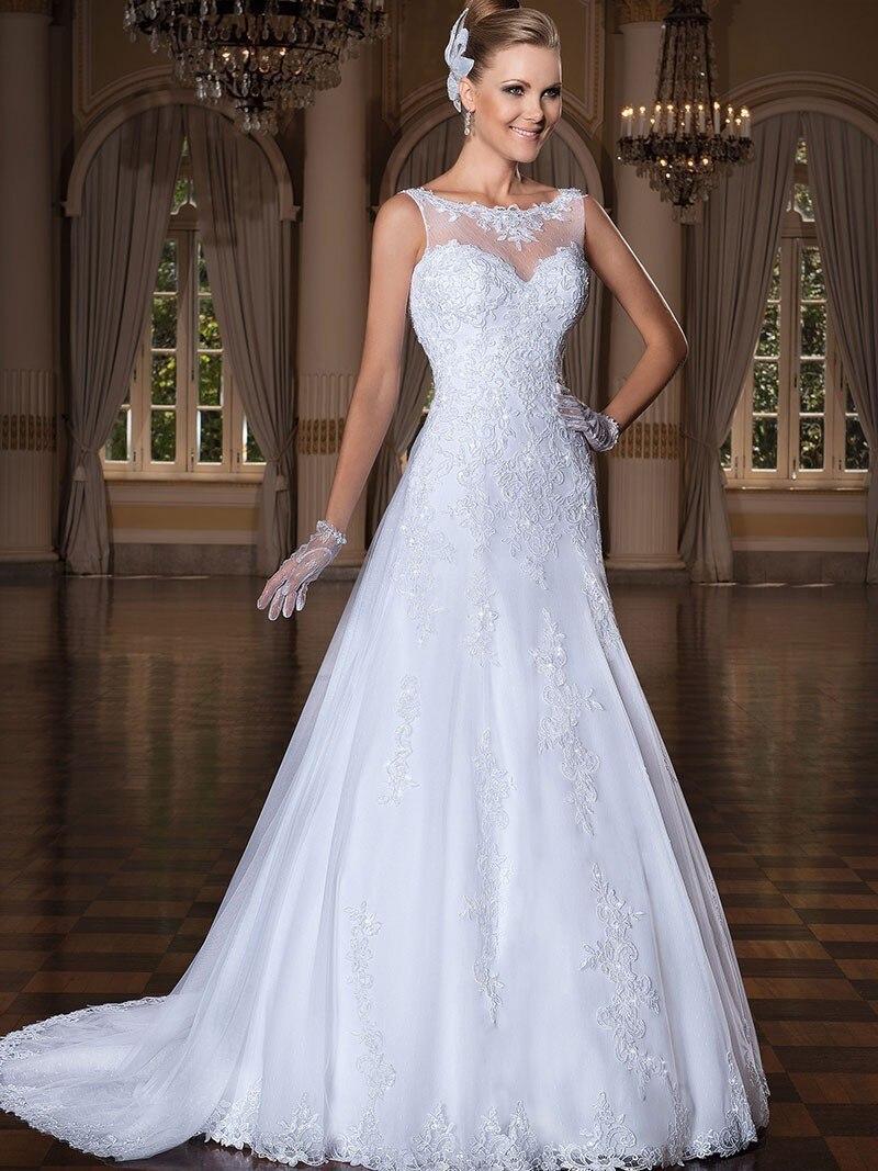 Long Formal Bridal Party Gothic Wedding Dress A Line White Custom ...