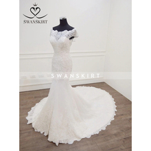 Swanskirt customiz Wedding Dress vestido de noiva Fishtail