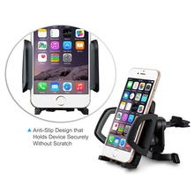 BLACK Car Mount Phone Holder with 360 Rotation for iPhone 6/6 Plus/6S Samsung Galaxy S6/ S6 Edge/S5/S4