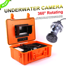 ViewEye CCD 1000TVL 360 Degree Underwater Rotating Fishing Camera Kit 8pcs White LED 10pcs IR LED 7″ TFT Color LCD Fish Finder