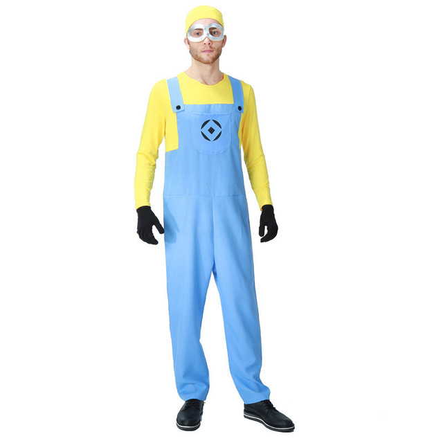Vocole Men Women Couple Minion Costume Anime Funny Yellow Guy Cosplay Fancy Dress  sc 1 st  AliExpress.com & Vocole Men Women Couple Minion Costume Anime Funny Yellow Guy ...