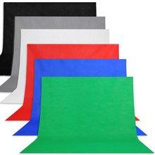 100*160 ซม. Nonwovens ภาพพื้นหลังฉากหลังผ้าไม่ทอผ้าสีดำสำหรับถ่ายภาพสตูดิโอถ่ายภาพและทีวี