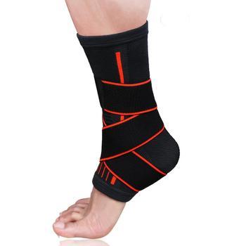 1 Pcs Pressurizable Bandage Ankle Support Protect Foot Basketball Football Badminton Anti Sprain Ankle Guard Warm Brace Nursing 4