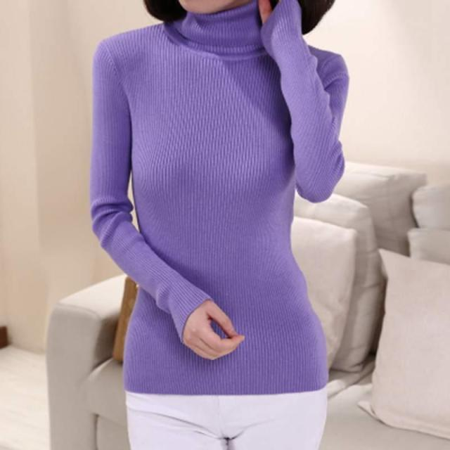 New Female Cashmere Wool High collar Sweater Women Turtleneck Pullover Ladies Shirt Hot Sale Female Warm Tops Sale Clothing