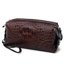 Женская косметичка, роскошный спилок из кожи крокодила, женский клатч, женская сумка для актера, косметичка, модная косметичка