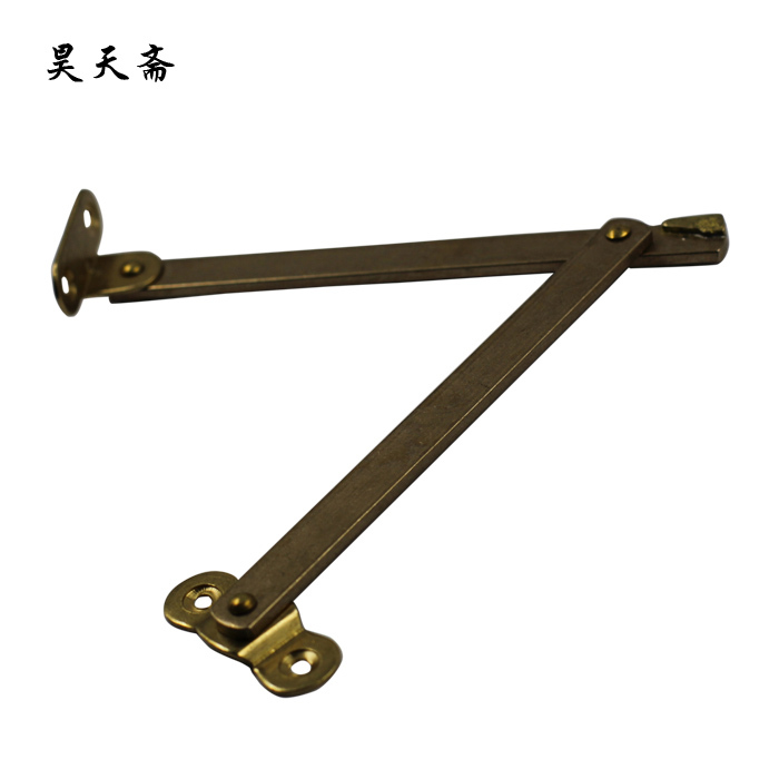 [Haotian vegetarian] Chinese antique wooden cradle copper fittings Zhangmu Xiang box support brace HTN 094