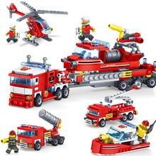 348PCS Urban Fire Force City Construction Series Byggstenar DIY Brandstation Brick Holiday Gift För Barn Kompatibla Legoings