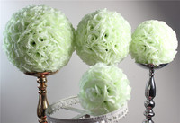 SPR 40cm plastic center ivory/off white artificial flower ball 4pcs/lot,kissing ball,party flower decorations more colo