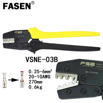 Non-insulated tabs and receptacles crimping tools electrical pliers high precision brand clamp VSNE-03B 0.5-6mm2 20-10AWG
