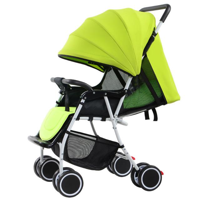 Venda quente Do Bebê Carrinho De Criança Dobrável Portátil Pode Sentar Mentindo Alta Paisagem À Prova de Choque de Carro Do Bebê Carrinhos E Carrinhos para Recém-nascidos
