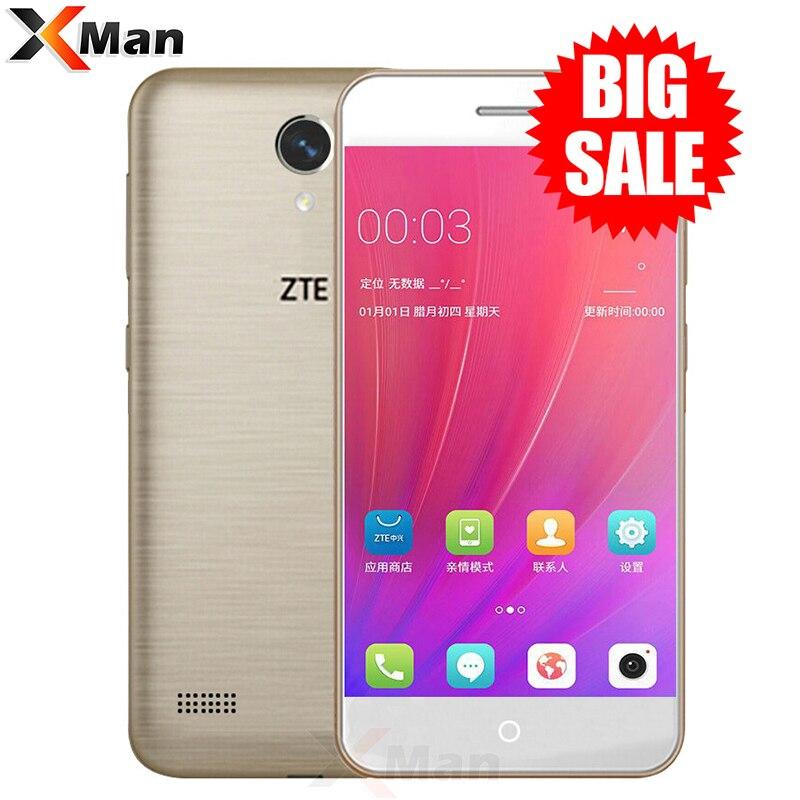 Original ZTE Blade A520 teléfono móvil 5,0 pulgadas Quad Core 2G RAM 16G ROM tarjetas SIM Dual frontal y cámara trasera Android 6,0
