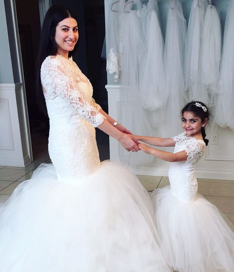 748a0d2fbc0 Special Lace Long Mermaid Flower Girl Dresses 2016 Formal Wedding Tulle  Scoop Neckline Short Sleeves Zipper Girls Party Dress-in Flower Girl Dresses  from ...