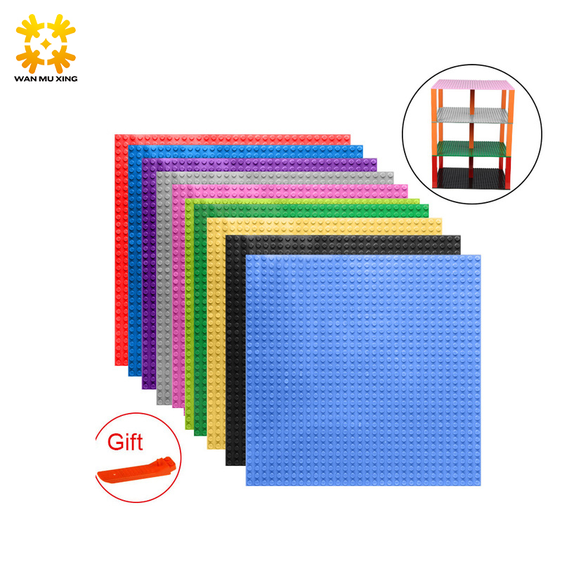 New Updated Version Small Bricks Base Plate 32*32 Dots 25.5*25.5cm/10x10 Legoed DIY Building Blocks Baseplate Toy 14 Colors 32 32 dots brand compatible small bricks blocks base plate 25 5 25 5cm kids diy educational building baseplate toys gift