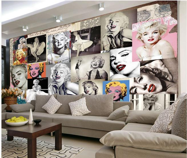 Line Shop Customize Marilyn Monroe Mural Wallpaper Wall Part 87